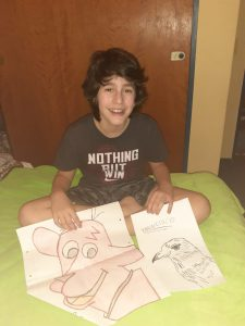 Artista: Francisco Amondarain Edad: 13 años Mamá: Adriana Belmonte Sector: Boletera Línea D